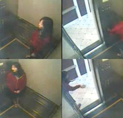 Imagens da câmera de segurança no caso do desaparecimento e morte de Elisa Lam.