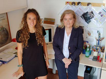 As pesquisadoras do CIBERSAM Laia Marques-Feixa e Lourdes Fañanás Saura