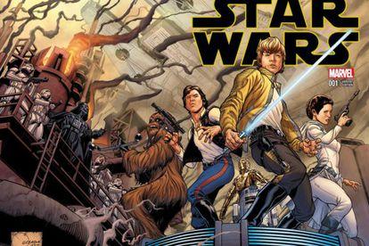 Capa alternativa de Joe Quesada para Star Wars nº 1.