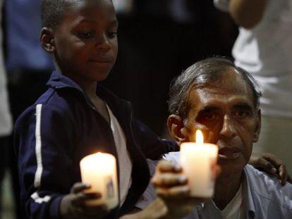 Ceremonia em Cali (Colômbia) pelas vítimas do conflito.