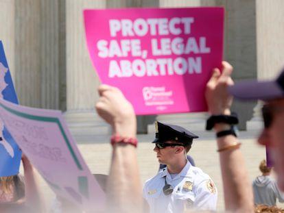 Protesto em defesa do aborto legal nos EUA, em maio de 2019.
