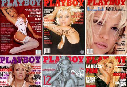 Capas da Pamela Anderson para a 'Playboy'.
