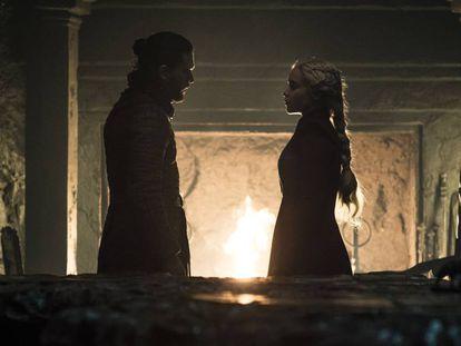 Jon e Daenerys no quinto capítulo da oitava temporada de 'Game of Thrones'.