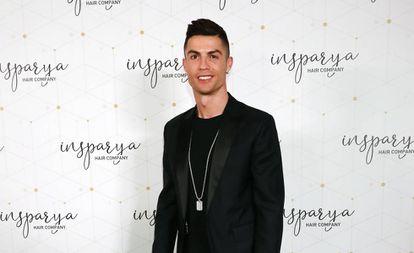 Cristiano Ronaldo, durante a inauguração da clínica de implantes capilares em Madri, na segunda-feira passada.