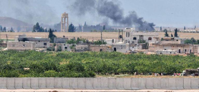 Ataque contra posições do Estado Islâmico.