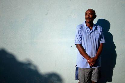 Ramon Villasana no abrigo para refugiados em Igarassu (PE).