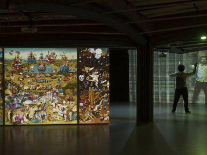 A exposição em São Paulo, Brasil.