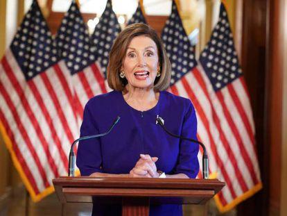 Nancy Pelosi, a presidenta da Câmara de Representantes dos EUA.