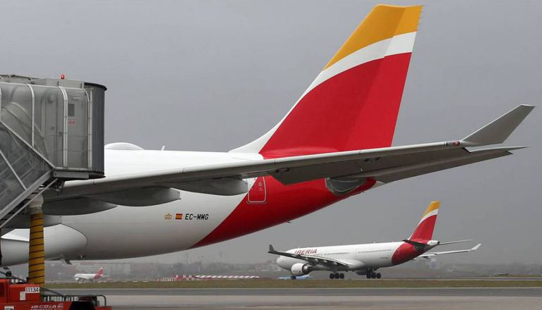 Avião da Iberia, companhia do grupo IAG, em imagem de arquivo.