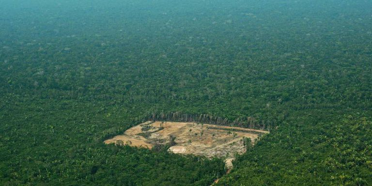Imagem de área desmatada na Amazônia, em setembro de 2017.