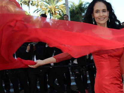 Sonia Braga em Cannes.