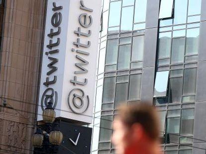 A sede de Twitter em San Francisco, EUA.