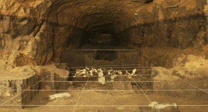 Imagem do último trecho do túnel.