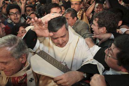 Juan Barros, criticado na igreja no sábado passado.