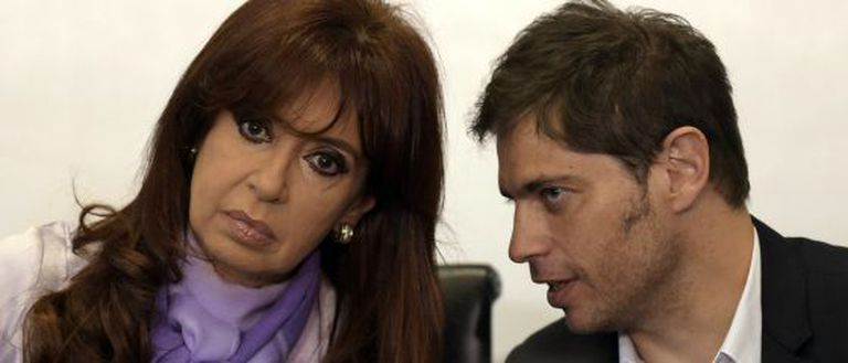 Cristina Kirchner e o ministro da Economia, Axel Kicillof.