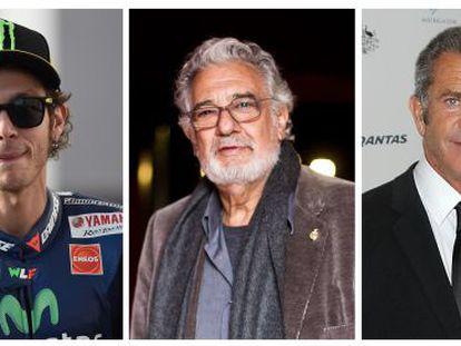 Valentino Rossi, Plácido Domingo e Mel Gibson.