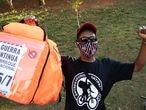 Vinicius Felix da Silva, 27 anos. Motoentregador participa em São Paulo do breque dos apps, a segunda paralisação nacional contra aplicativos de entregas como iFood, Uber Eats e Rappi.