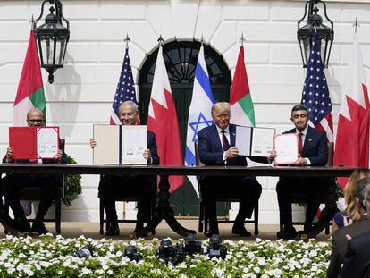 A assinatura dos acordos nesta terça-feira, na Casa Branca.