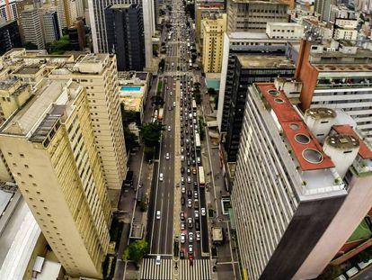 Vista da avenida Paulista, onde a vítima afirma ter sido atacada.