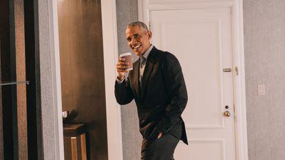 Barack Obama, depois da entrevista.