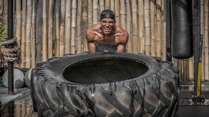 O boxeador venezuelano Eldric Sella treina em Trinidad e Tobago.