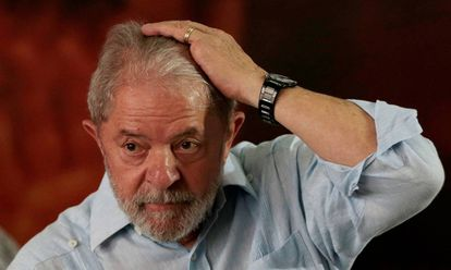 Lula no evento que promoveu sua pré-candidatura à presidência em 2018.