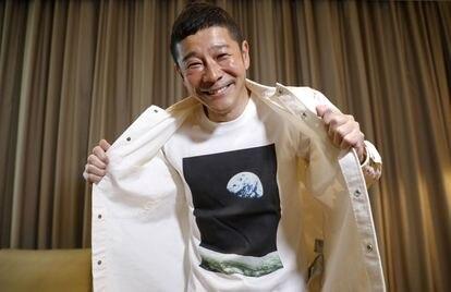O multimilionário japonês Yusaku Maezawa, em uma imagem de março deste ano.