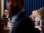 El presidente del comité de investigación del ataque al Capitolio, Bennie Thompson, y la republicana Liz Cheney.