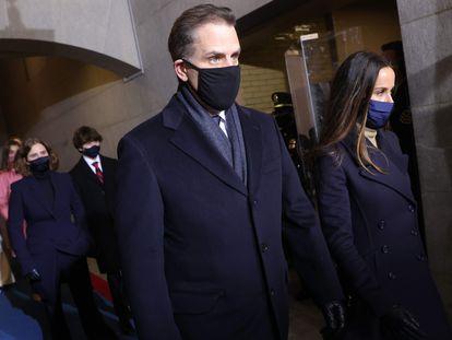 Hunter Biden no dia da posse de Joe Biden, em 20 de janeiro.