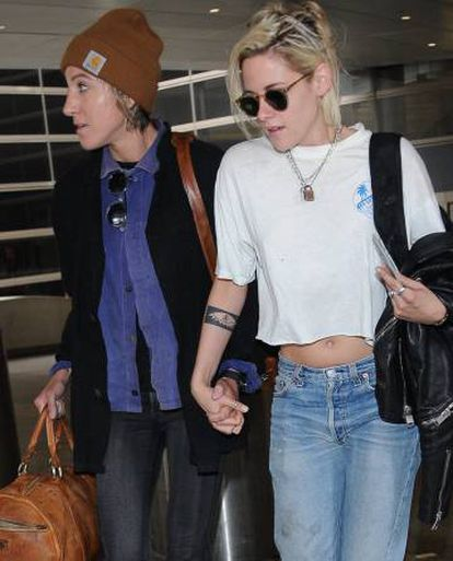 Kristen Stewart e Alicia Cargile, em Los Angeles.