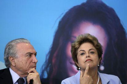 Michel Temer e Dilma Rousseff, em agosto de 2015
