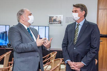 O procurador Augusto Aras, e o presidente Jair Bolsonaro, na Procuradoria.