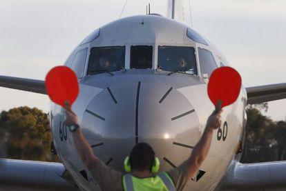 Avião enviado pelo Japão à base da Força Aérea Australiana.