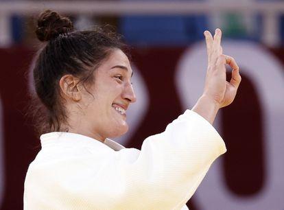 Três vezes bronze nas Olimpíadas, Mayra Aguiar faz história no tatame nos Jogos Olímpicos de Tóquio.