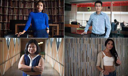 Pet, Kath, Kaona e Mimi, quatro transexuais que sofreram casos de discriminação profissional na Tailândia