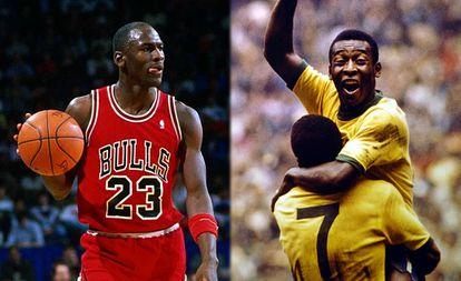 Michael Jordan e Pelé, os dois maiores atletas da história.