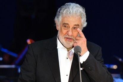 Plácido Domingo, em um concerto na Hungria.