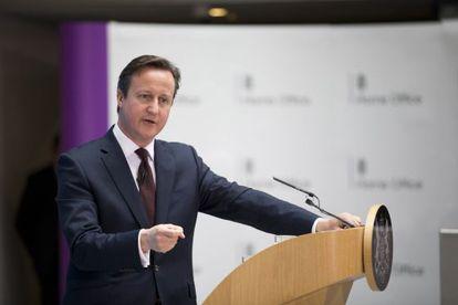 O primeiro-ministro britânico David Cameron, nesta quinta-feira em Londres.