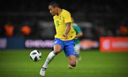 Jesus marcou o gol da vitória brasileira contra a Alemanha.