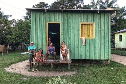 Moradores da aldeia de Punã em junho de 2021.