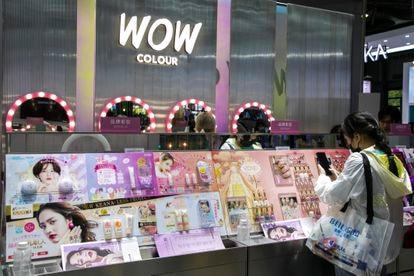Loja de maquiagem em Shangai no último dia 13 de maio.