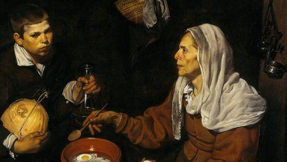 Velha Fritando Ovos, quadro de Diego Velázquez de 1618.