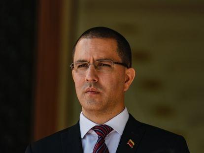 Jorge Arreaza, no palácio de Miraflores, em Caracas.