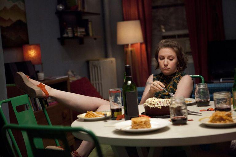 Lena Dunham como Hannah em 'Girls', que estreia quinta temporada.