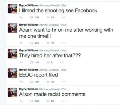Mensagens publicadas pelo assassino em sua conta do Twitter antes de se suicidar