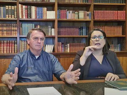Imagem da live de Jair Bolsonaro que foi bloqueada pelo Facebook e Instagram.