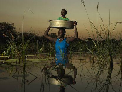 Sobrevivendo às enchentes no Sudão do Sul