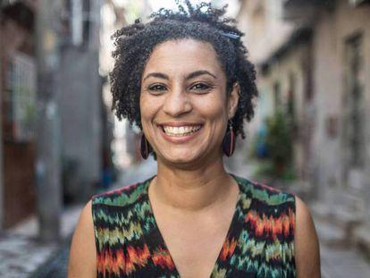 A vereadora Marielle Franco, 38 anos, em uma imagem de arquivo: ela e o motorista Anderson Pedro Gomes foram assassinados a tiros na quarta-feira, 14 de março, no centro do Rio.