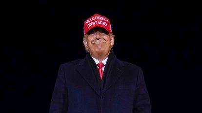 Donald Trump, durante a campanha eleitoral de 2020.