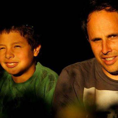 Gabriel e Javier em uma selfie.